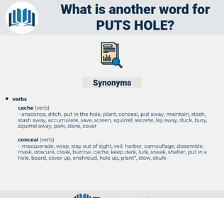 puts hole, synonym puts hole, another word for puts hole, words like puts hole, thesaurus puts hole