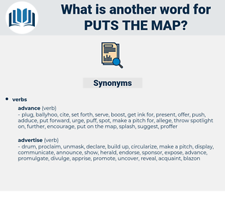 puts the map, synonym puts the map, another word for puts the map, words like puts the map, thesaurus puts the map