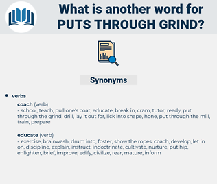 puts through grind, synonym puts through grind, another word for puts through grind, words like puts through grind, thesaurus puts through grind
