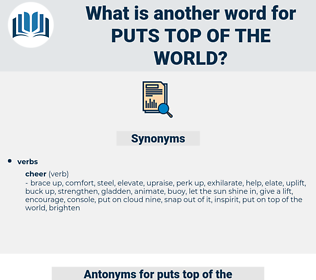 puts top of the world, synonym puts top of the world, another word for puts top of the world, words like puts top of the world, thesaurus puts top of the world