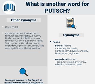 putsch, synonym putsch, another word for putsch, words like putsch, thesaurus putsch