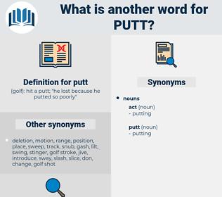 putt, synonym putt, another word for putt, words like putt, thesaurus putt