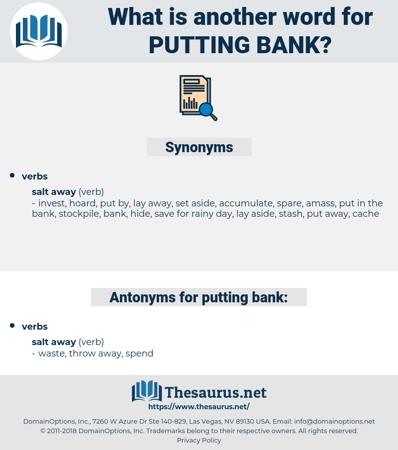 putting bank, synonym putting bank, another word for putting bank, words like putting bank, thesaurus putting bank
