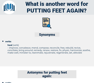 putting feet again, synonym putting feet again, another word for putting feet again, words like putting feet again, thesaurus putting feet again