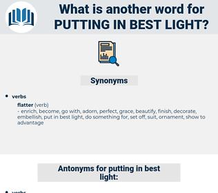 putting in best light, synonym putting in best light, another word for putting in best light, words like putting in best light, thesaurus putting in best light