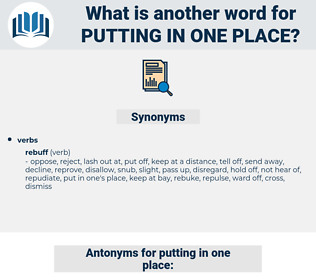 putting in one place, synonym putting in one place, another word for putting in one place, words like putting in one place, thesaurus putting in one place
