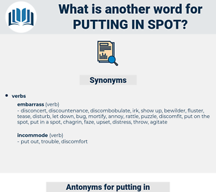 putting in spot, synonym putting in spot, another word for putting in spot, words like putting in spot, thesaurus putting in spot