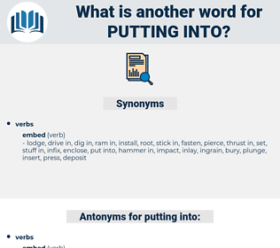 putting into, synonym putting into, another word for putting into, words like putting into, thesaurus putting into