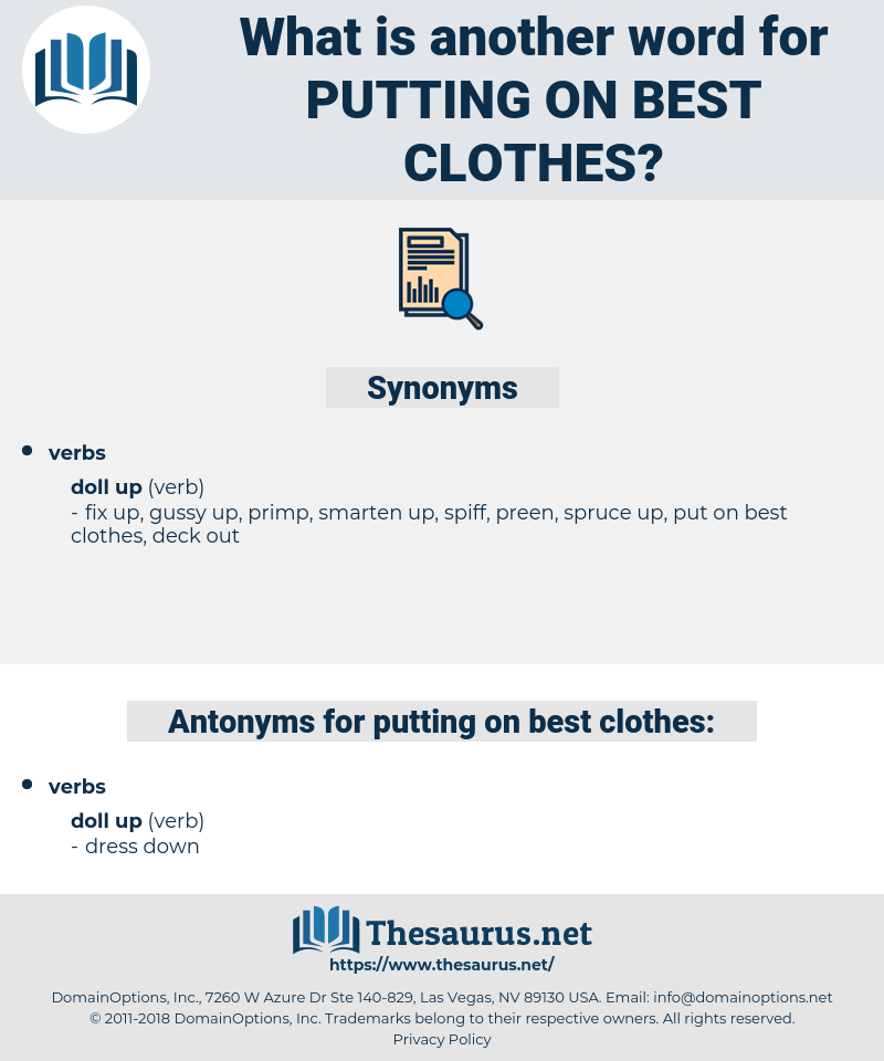 putting on best clothes, synonym putting on best clothes, another word for putting on best clothes, words like putting on best clothes, thesaurus putting on best clothes