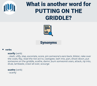 putting on the griddle, synonym putting on the griddle, another word for putting on the griddle, words like putting on the griddle, thesaurus putting on the griddle
