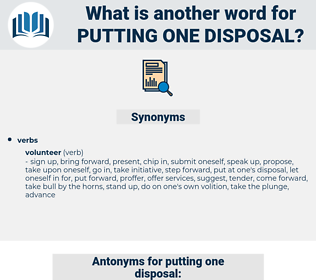 putting one disposal, synonym putting one disposal, another word for putting one disposal, words like putting one disposal, thesaurus putting one disposal