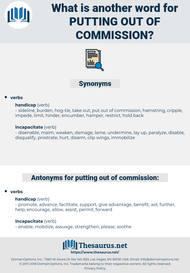 putting out of commission, synonym putting out of commission, another word for putting out of commission, words like putting out of commission, thesaurus putting out of commission