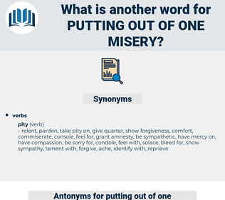 putting out of one misery, synonym putting out of one misery, another word for putting out of one misery, words like putting out of one misery, thesaurus putting out of one misery
