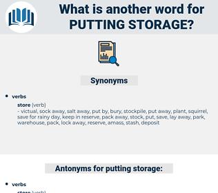 putting storage, synonym putting storage, another word for putting storage, words like putting storage, thesaurus putting storage