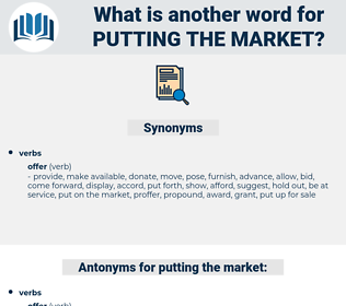 putting the market, synonym putting the market, another word for putting the market, words like putting the market, thesaurus putting the market