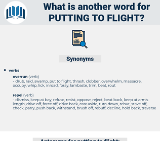 putting to flight, synonym putting to flight, another word for putting to flight, words like putting to flight, thesaurus putting to flight
