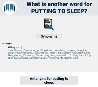 putting to sleep, synonym putting to sleep, another word for putting to sleep, words like putting to sleep, thesaurus putting to sleep