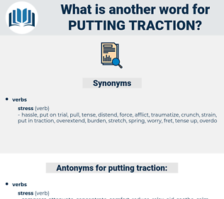 putting traction, synonym putting traction, another word for putting traction, words like putting traction, thesaurus putting traction