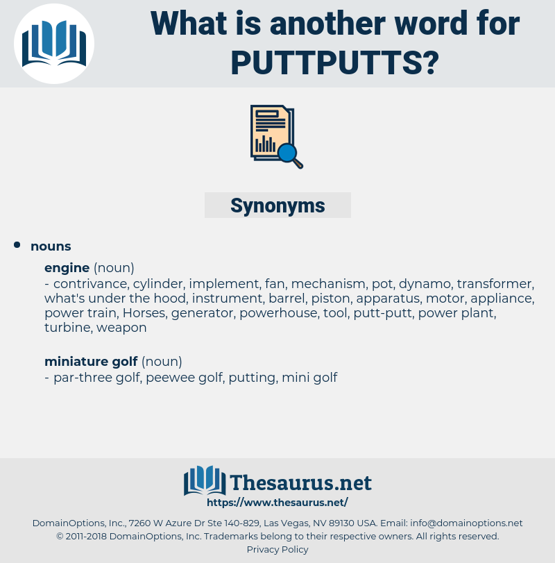 puttputts, synonym puttputts, another word for puttputts, words like puttputts, thesaurus puttputts