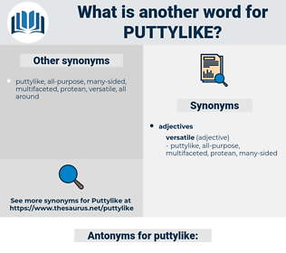 puttylike, synonym puttylike, another word for puttylike, words like puttylike, thesaurus puttylike