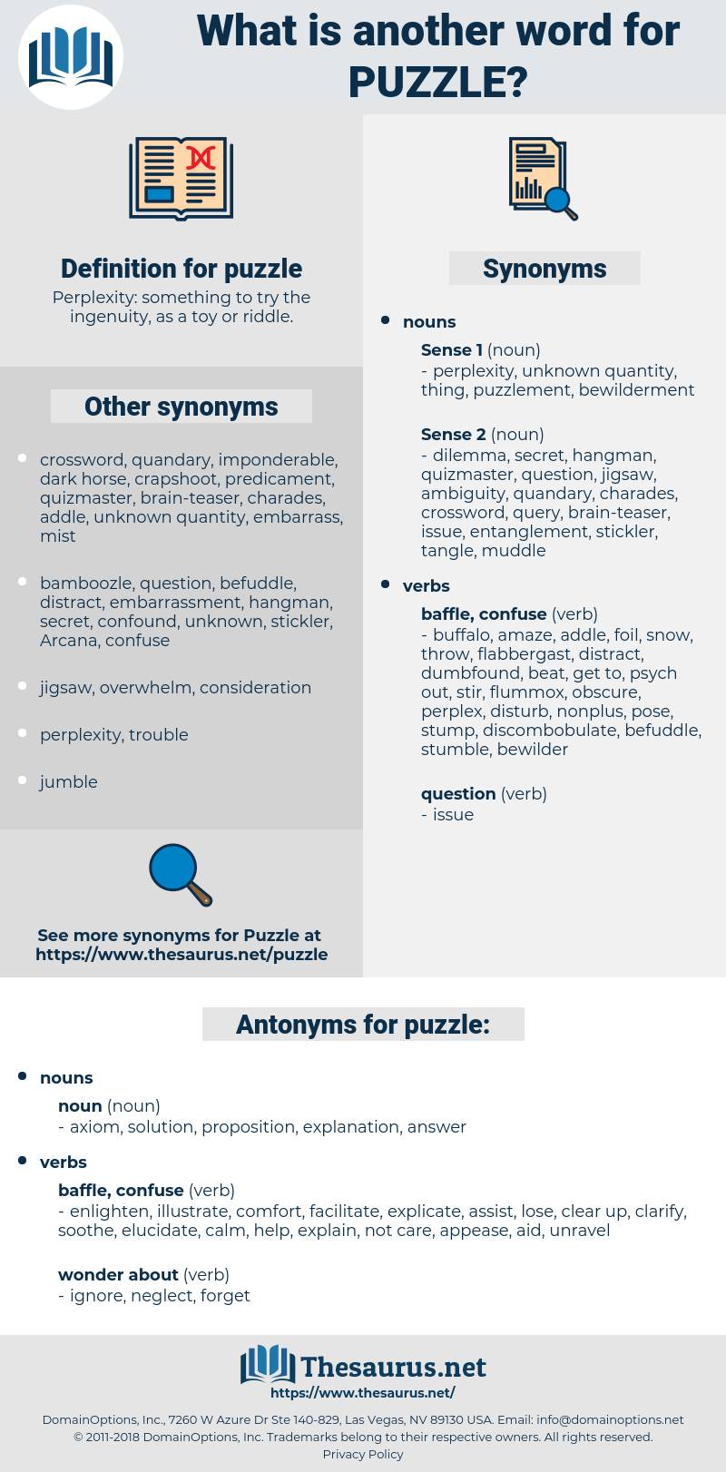 puzzle, synonym puzzle, another word for puzzle, words like puzzle, thesaurus puzzle