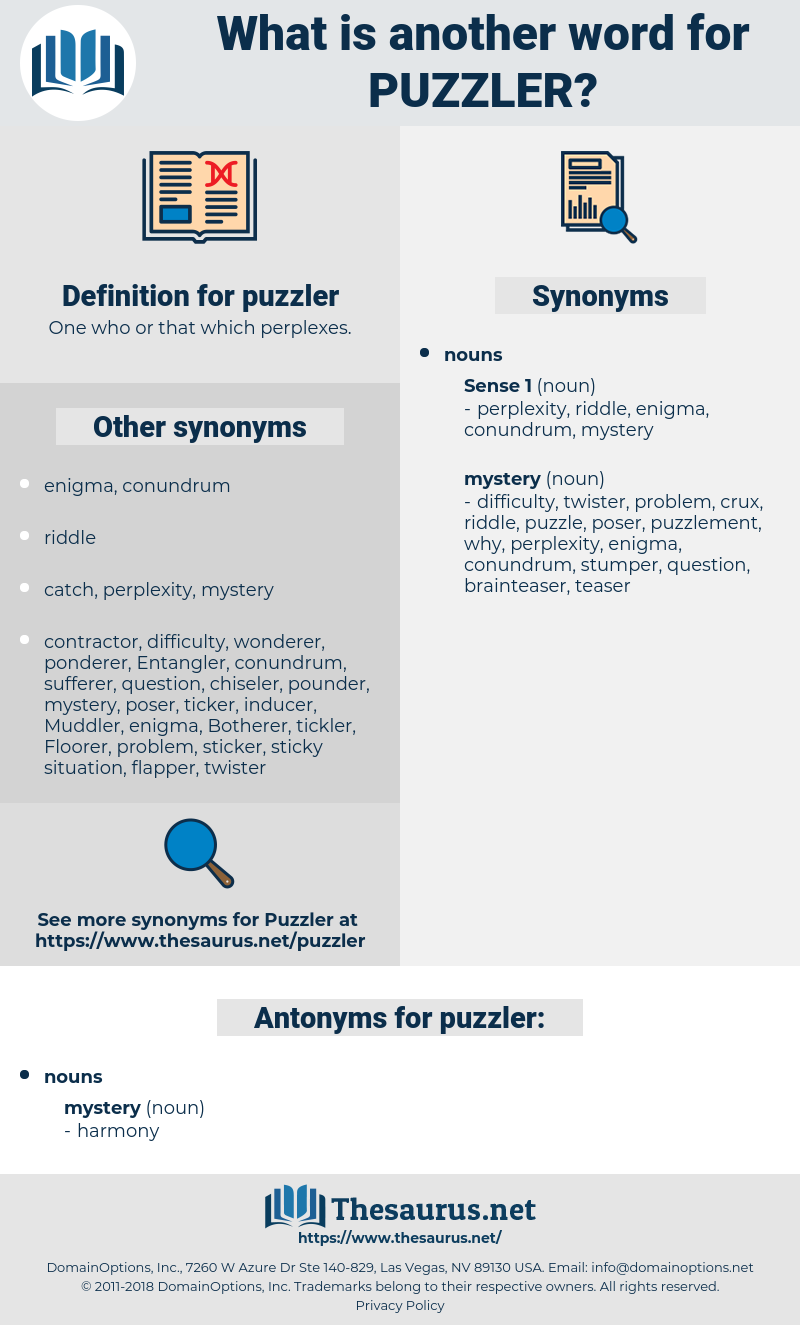 puzzler, synonym puzzler, another word for puzzler, words like puzzler, thesaurus puzzler