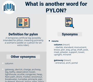 pylon, synonym pylon, another word for pylon, words like pylon, thesaurus pylon