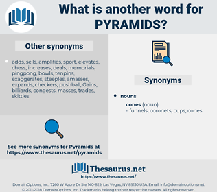 pyramids, synonym pyramids, another word for pyramids, words like pyramids, thesaurus pyramids