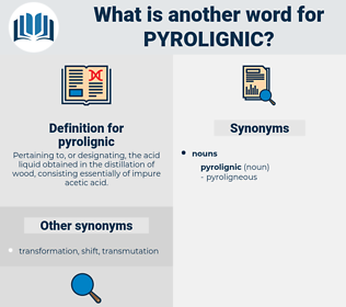 pyrolignic, synonym pyrolignic, another word for pyrolignic, words like pyrolignic, thesaurus pyrolignic
