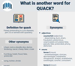 quack, synonym quack, another word for quack, words like quack, thesaurus quack