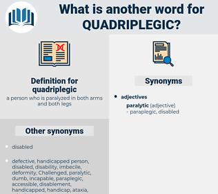 quadriplegic, synonym quadriplegic, another word for quadriplegic, words like quadriplegic, thesaurus quadriplegic