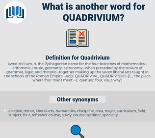 Quadrivium, synonym Quadrivium, another word for Quadrivium, words like Quadrivium, thesaurus Quadrivium