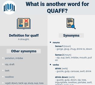 quaff, synonym quaff, another word for quaff, words like quaff, thesaurus quaff