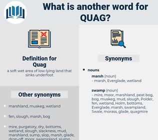 Quag, synonym Quag, another word for Quag, words like Quag, thesaurus Quag