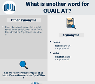 quail at, synonym quail at, another word for quail at, words like quail at, thesaurus quail at