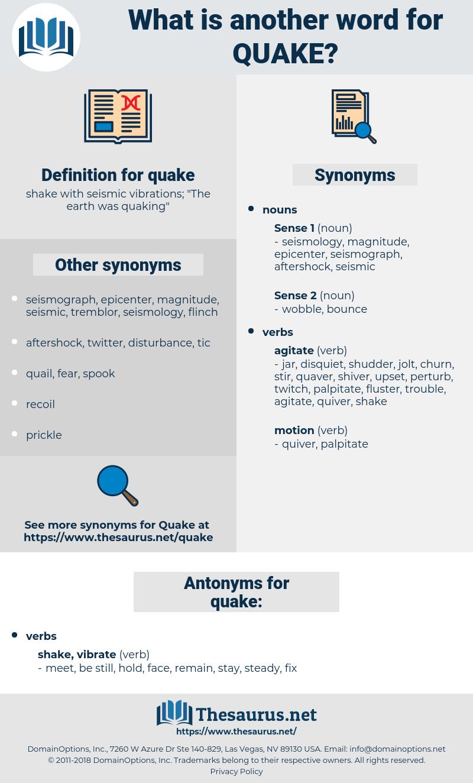 quake, synonym quake, another word for quake, words like quake, thesaurus quake