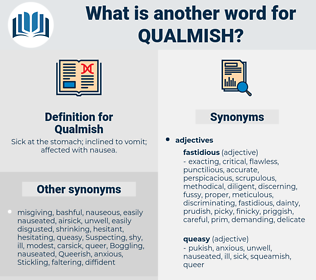 Qualmish, synonym Qualmish, another word for Qualmish, words like Qualmish, thesaurus Qualmish