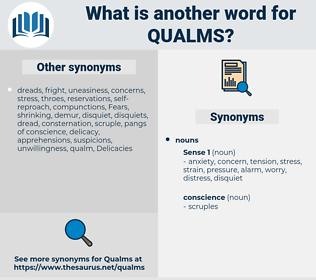 qualms, synonym qualms, another word for qualms, words like qualms, thesaurus qualms