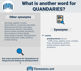 Quandaries, synonym Quandaries, another word for Quandaries, words like Quandaries, thesaurus Quandaries
