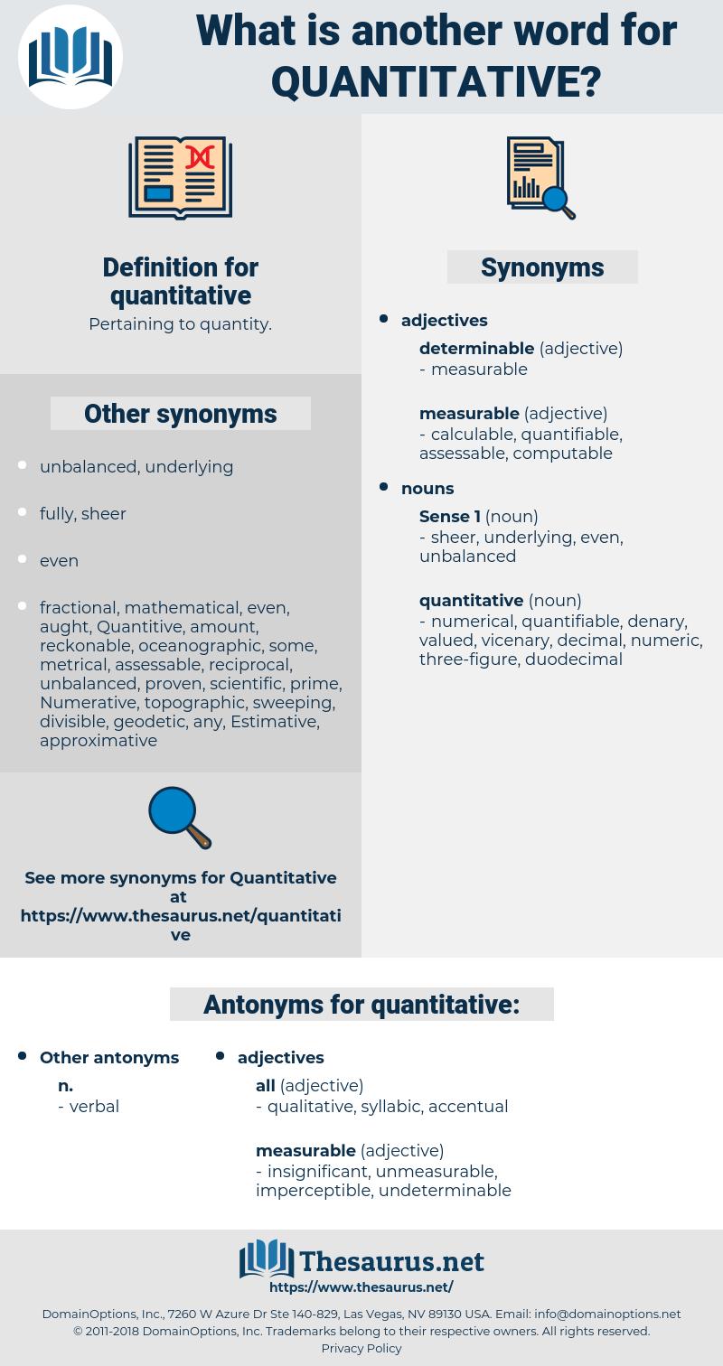 quantitative, synonym quantitative, another word for quantitative, words like quantitative, thesaurus quantitative