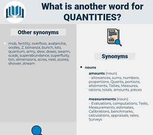 Quantities, synonym Quantities, another word for Quantities, words like Quantities, thesaurus Quantities