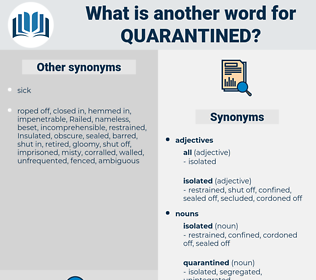 quarantined, synonym quarantined, another word for quarantined, words like quarantined, thesaurus quarantined
