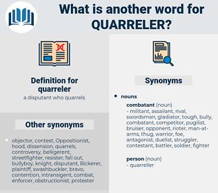 quarreler, synonym quarreler, another word for quarreler, words like quarreler, thesaurus quarreler
