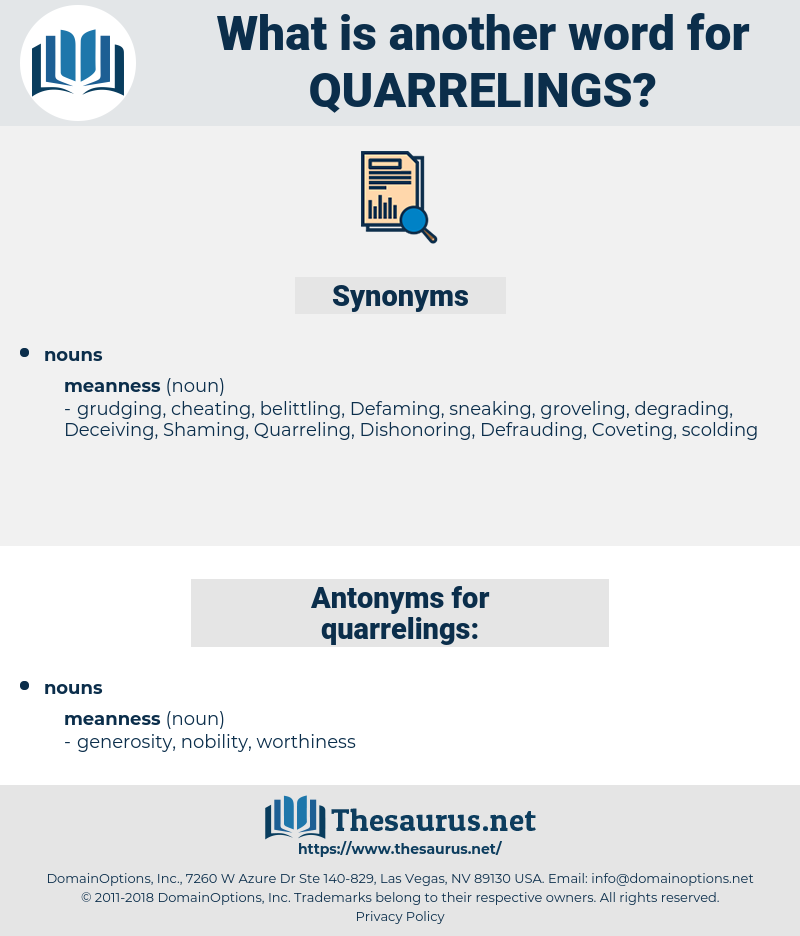 quarrelings, synonym quarrelings, another word for quarrelings, words like quarrelings, thesaurus quarrelings