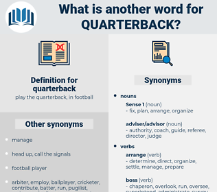 quarterback, synonym quarterback, another word for quarterback, words like quarterback, thesaurus quarterback
