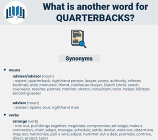 quarterbacks, synonym quarterbacks, another word for quarterbacks, words like quarterbacks, thesaurus quarterbacks
