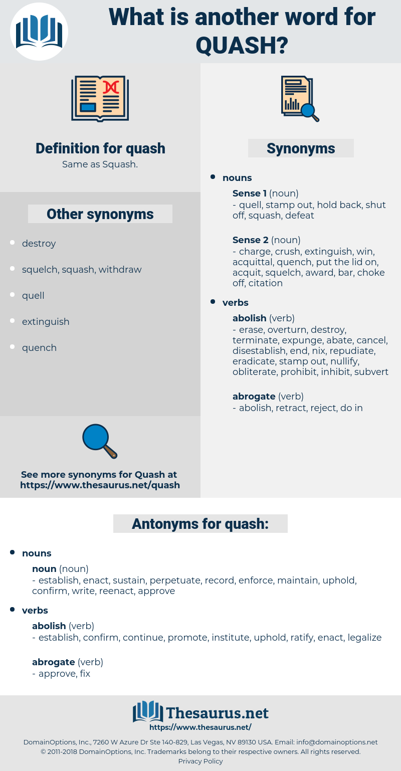 quash, synonym quash, another word for quash, words like quash, thesaurus quash