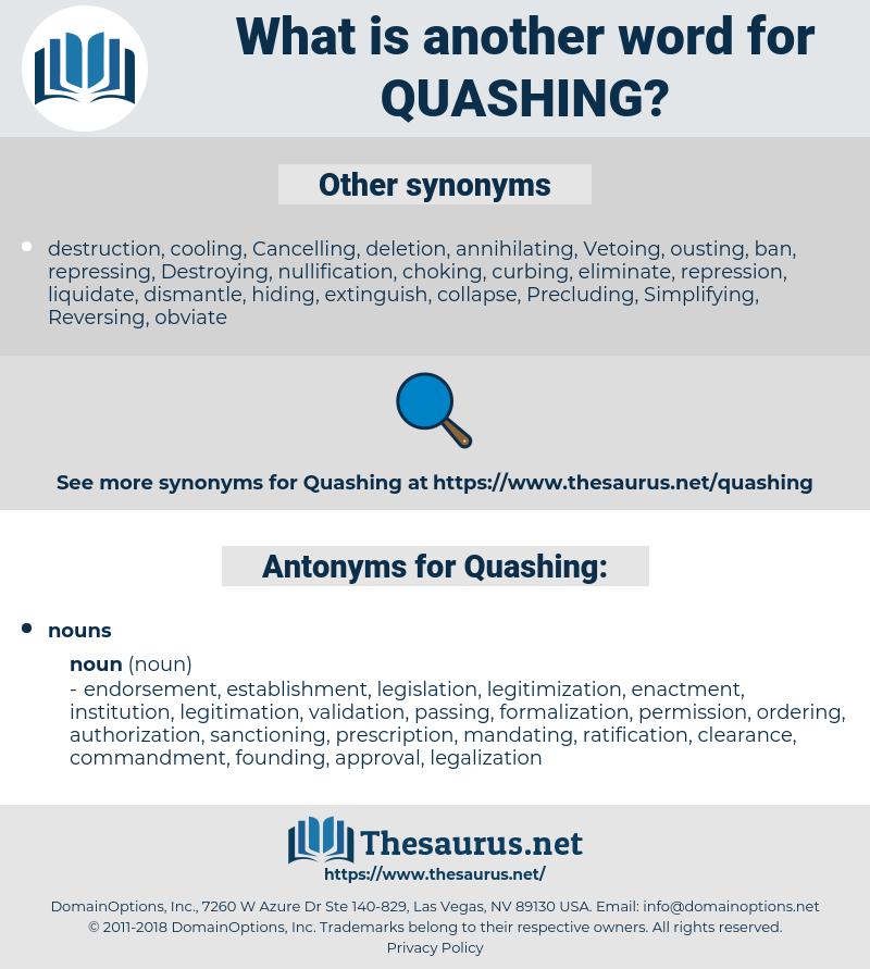 Quashing, synonym Quashing, another word for Quashing, words like Quashing, thesaurus Quashing
