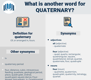 quaternary, synonym quaternary, another word for quaternary, words like quaternary, thesaurus quaternary