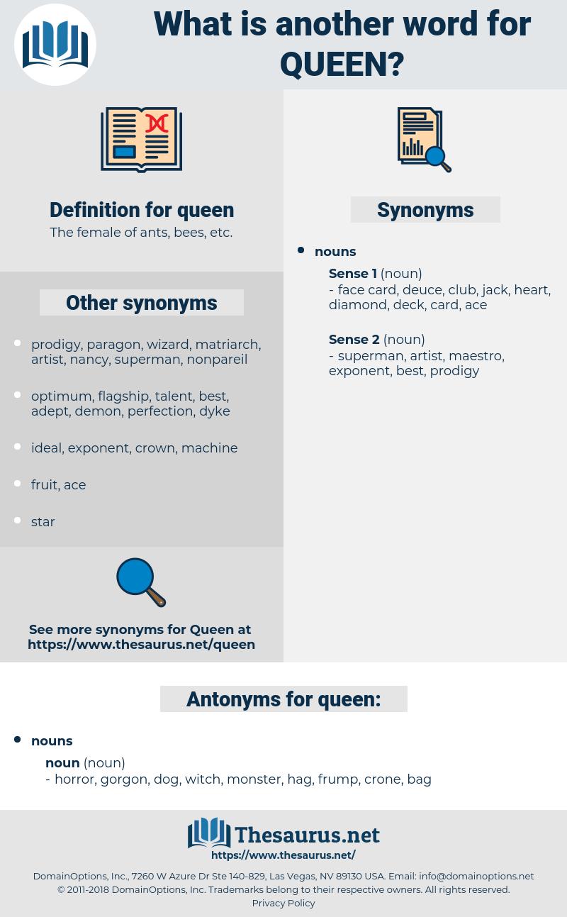 queen, synonym queen, another word for queen, words like queen, thesaurus queen